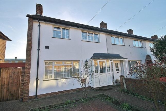 Thumbnail End terrace house for sale in Elizabethan Way, Stanwell, Staines-Upon-Thames, Surrey