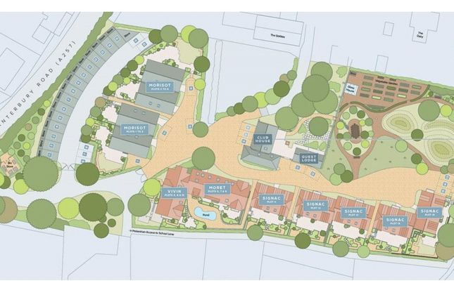 Site Plan of Orchard Yard, Canterbury Road, Wingham, Kent CT3