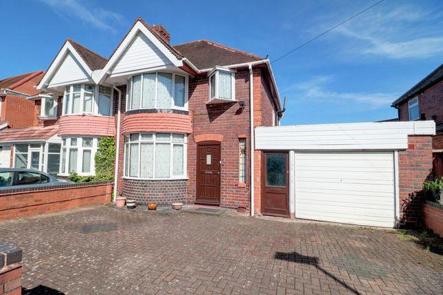 Thumbnail Semi-detached house for sale in West Avenue, Handsworth Wood, Birmingham