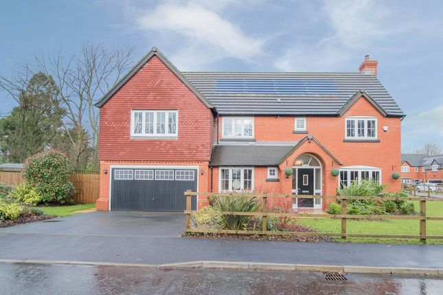 Thumbnail Detached house for sale in Emerald Drive, Croft, Warrington