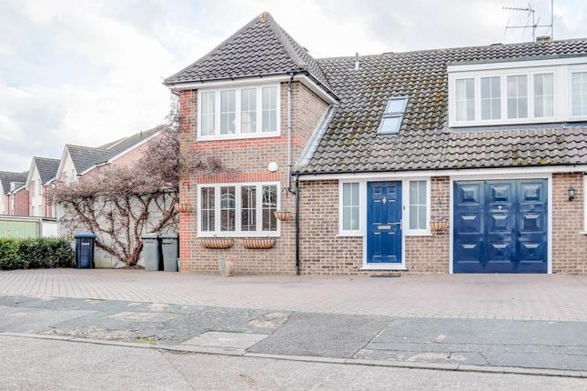 Thumbnail Semi-detached house for sale in Roakes Avenue, Addlestone