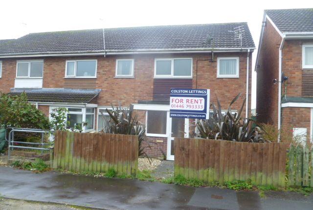 Thumbnail End terrace house to rent in Carmarthen Close, Llantwit Major