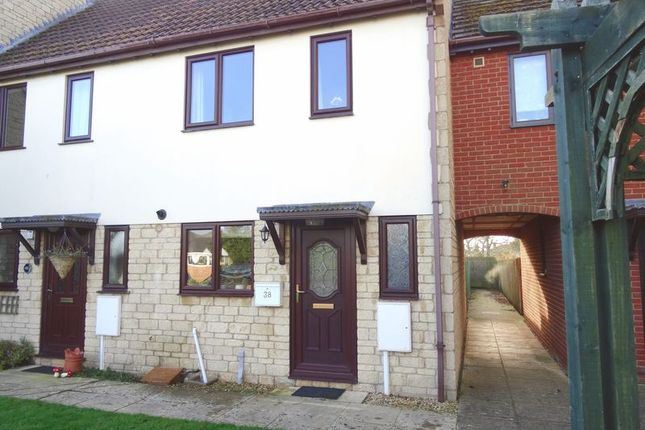 Thumbnail Terraced house for sale in Stephens Way, Deeping St. James, Peterborough