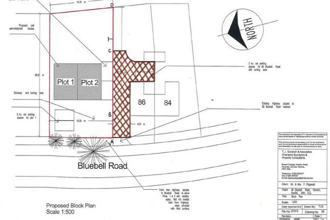 Thumbnail Land for sale in Bluebell Road, Norwich