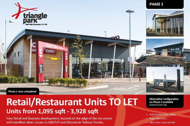 Thumbnail Retail premises to let in Triangle Park, Phase 2, Metz Way, Gloucester
