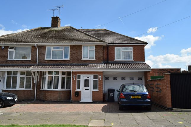 Thumbnail Semi-detached house for sale in Earlswood Road, Evington, Leicester