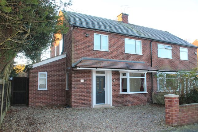 Thumbnail Semi-detached house to rent in Davenport Avenue, Wilmslow