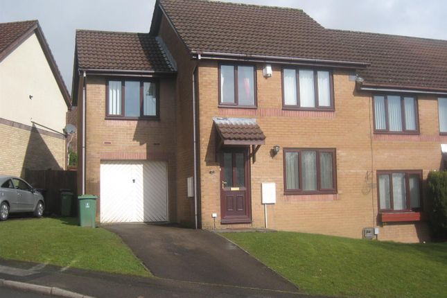 Thumbnail Semi-detached house for sale in Clover Court, Ty Canol, Cwmbran
