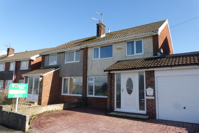 Thumbnail Semi-detached house for sale in Mountain View, North Cornelly, Bridgend