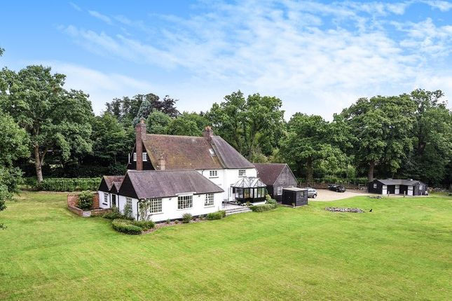 Thumbnail Detached house to rent in Hill View, Brick Hill, Chobham, Woking