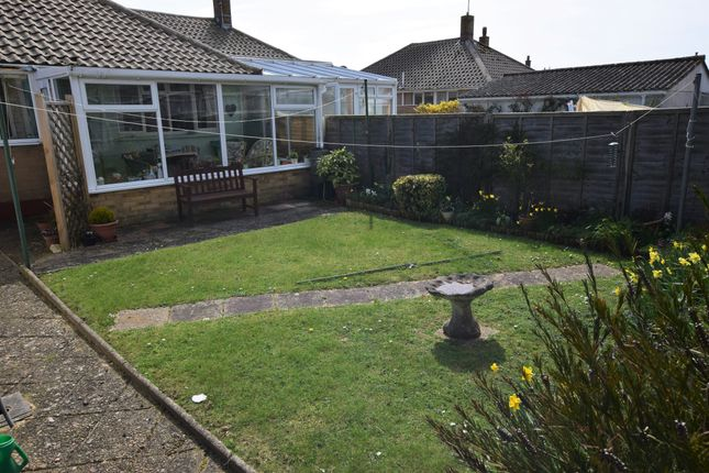 Rear Garden of Innings Drive, Pevensey Bay BN24
