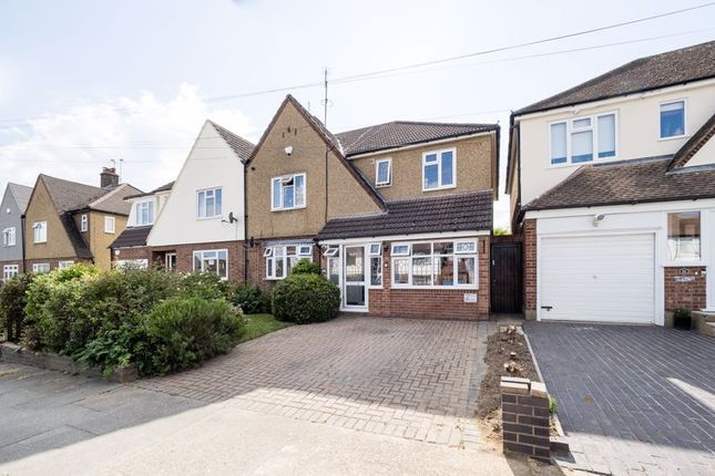 Thumbnail Semi-detached house for sale in Marlborough Gardens, Cranham, Upminster