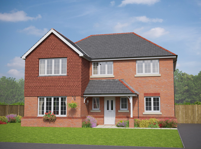 Thumbnail Detached house for sale in The Llanberis, Middlewich Road, Sandbach, Cheshire