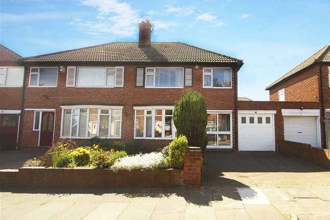 Thumbnail Semi-detached house to rent in Monkhouse Avenue, North Shields, Tyne And Wear