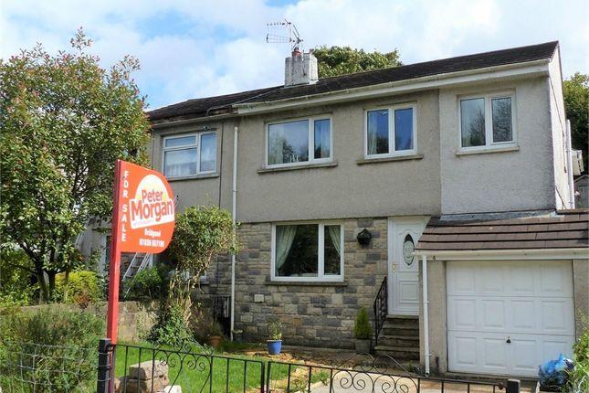 Thumbnail Semi-detached house for sale in Llangeinor Road, Brynmenyn, Bridgend, Mid Glamorgan