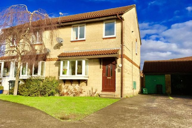 Thumbnail Semi-detached house for sale in Botham Close, Worle, Weston-Super-Mare