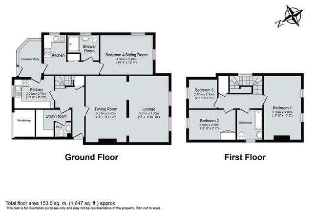 Floor Plan of Begbroke Crescent, Begbroke, Kidlington OX5