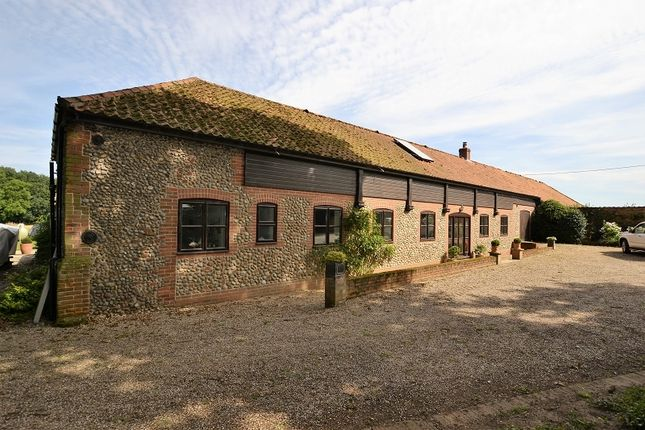 Thumbnail Barn conversion for sale in Saxthorpe Road, Thurning, Melton Constable, Norfolk.