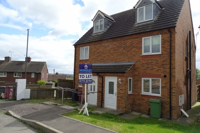 Thumbnail Semi-detached house to rent in Haworth Close, Alfreton, Mickley Derbyshire