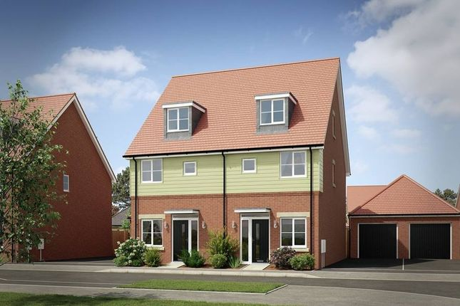 "Thumbnail Semi-detached house for sale in ""The Kineton Semi Detached - Showhome Sale & Leaseback"" at London Road, Calverton, Milton Keynes"