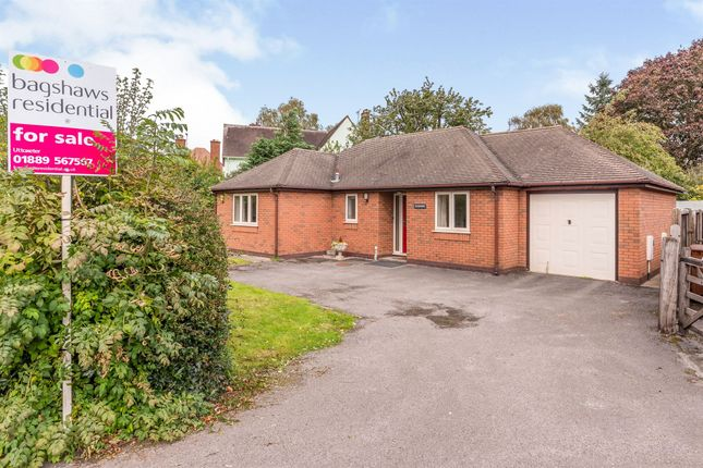 Thumbnail Detached bungalow for sale in Stone Road, Uttoxeter