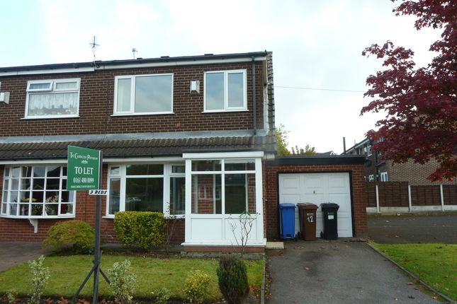 Thumbnail Semi-detached house to rent in Weybourne Drive, Bredbury, Stockport
