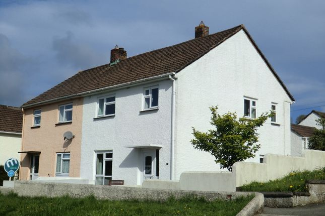 Thumbnail Semi-detached house to rent in Broad Park, Launceston, Cornwall