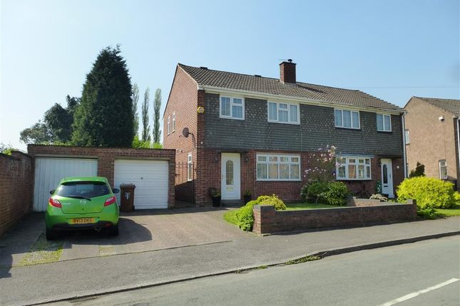 Thumbnail Semi-detached house to rent in Red Lion Crescent, Norton Canes, Cannock