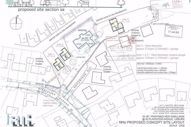 Thumbnail Land for sale in Plantation Avenue, Lisburn