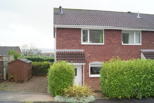 Thumbnail End terrace house to rent in Hazeldene Avenue, Brackla, Bridgend.