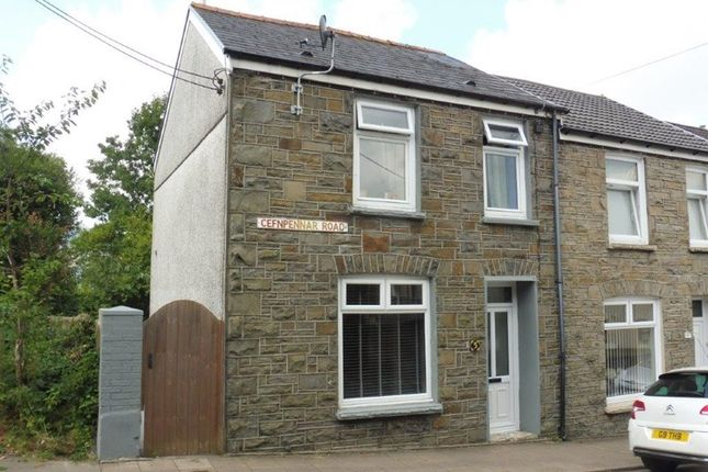 Thumbnail End terrace house for sale in Cefnpennar Road, Cwmbach, Aberdare
