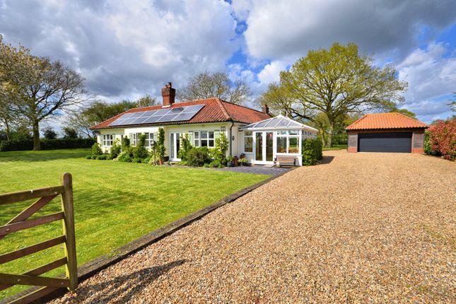 Thumbnail Detached bungalow for sale in Kerdiston, Norwich