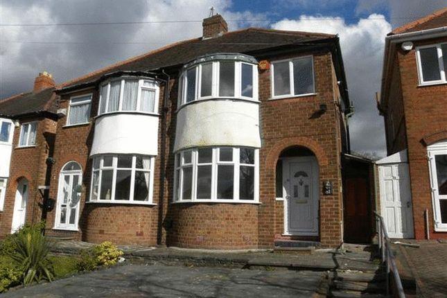 Thumbnail Semi-detached house to rent in Glenwood Road, Birmingham