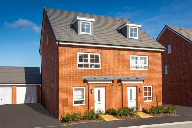 "Thumbnail Semi-detached house for sale in ""Kingsville"" at Newton Abbot Way, Bourne"