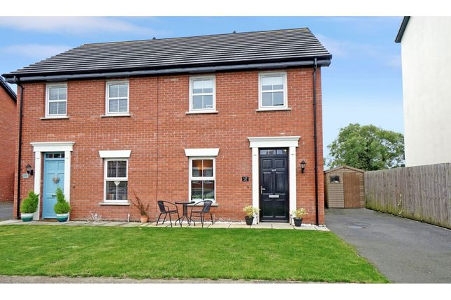 Thumbnail 3 bed semi-detached house for sale in Linen Crescent, Bangor
