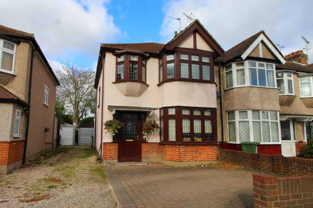 Thumbnail End terrace house for sale in Woodfield Drive, Gidea Park, Romford