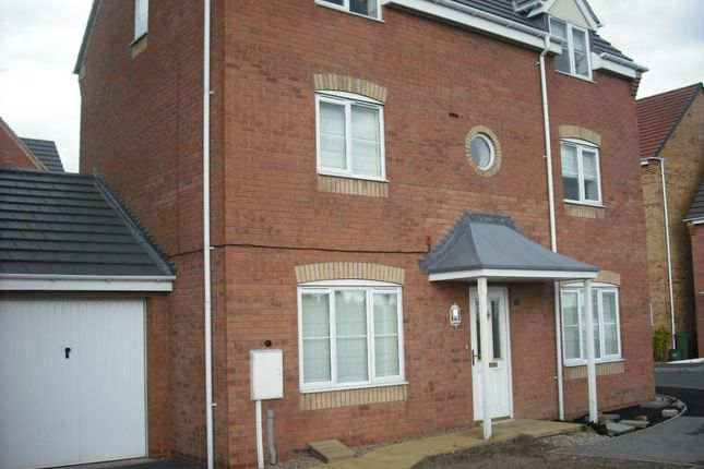 Thumbnail Terraced house to rent in Spinney Close, Thorpe Astley