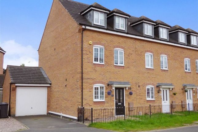 Thumbnail End terrace house for sale in Comfrey Close, Cannock, Staffordshire
