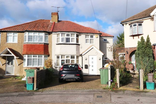 Thumbnail Semi-detached house to rent in Hazlemere Gardens, Worcester Park