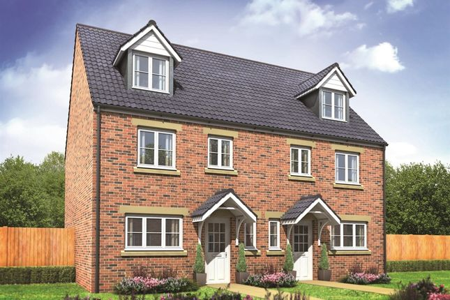 "Thumbnail End terrace house for sale in ""The Leicester"" at City Fields Way, Tangmere, Chichester"