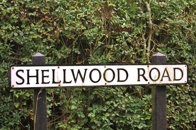 Road Sign of Shellwood Road, Leigh, Reigate, Surrey RH2