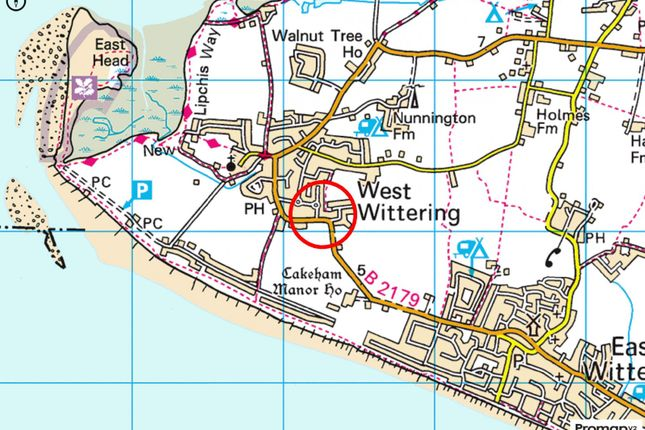 Map-Area of The Byeway, West Wittering PO20