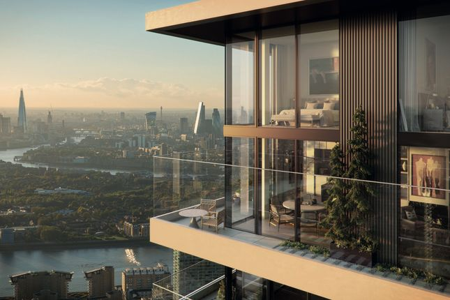 Thumbnail Flat for sale in The Wardian Penthouse, Marsh Wall, London