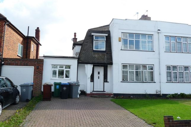 Thumbnail Semi-detached house for sale in Chapman Crescent, Kenton