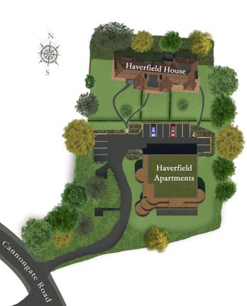 Site Plan of Cannongate Road, Hythe CT21