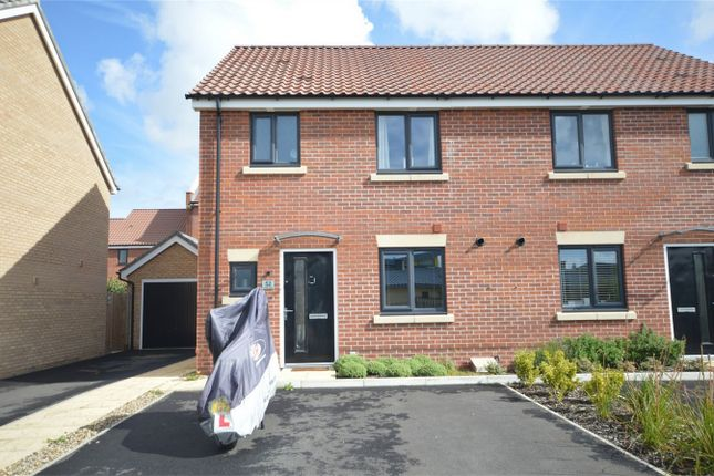 Thumbnail Semi-detached house for sale in Fieldfare Way, Queens Hills, Costessey, Norwich