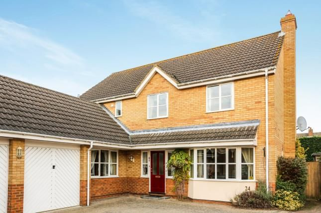 Thumbnail Detached house for sale in Bickerdikes Gardens, Sandy, Bedfordshire, .
