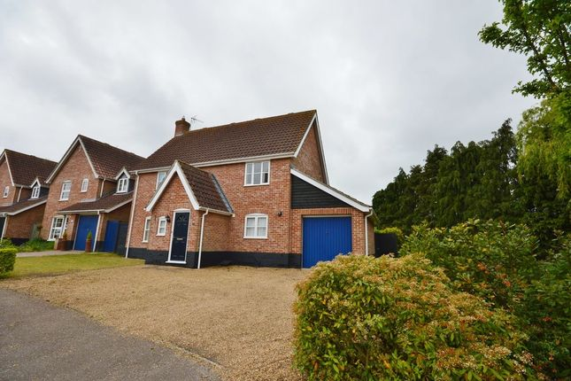 Thumbnail Detached house to rent in Holmere Drive, Halesworth