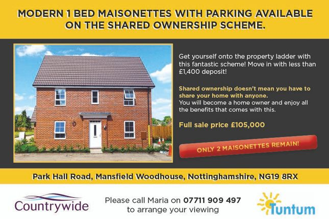 Thumbnail Maisonette for sale in Piccadilly Close, Mansfield Woodhouse, Nottinghamshire