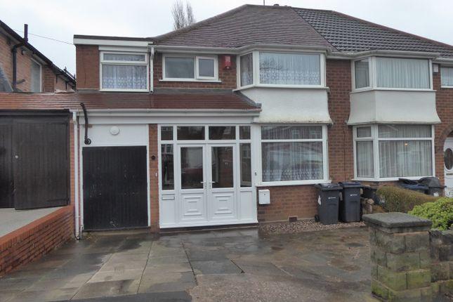 Thumbnail Semi-detached house for sale in Fairway, Northfield, Birmingham